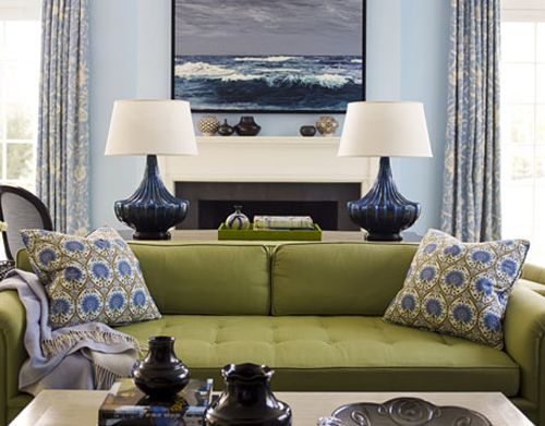living rooms green couch living room ideas blue wall livingroom