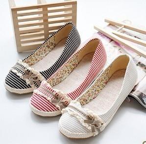 Pretty, pretty stripe flats  calzado tallas pequeñas 13.9€ 500 articulos