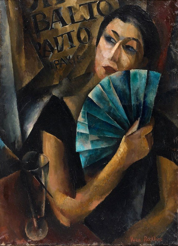 The Athenaeum - Young Woman with a Blue Fan (Vera Rockline - )