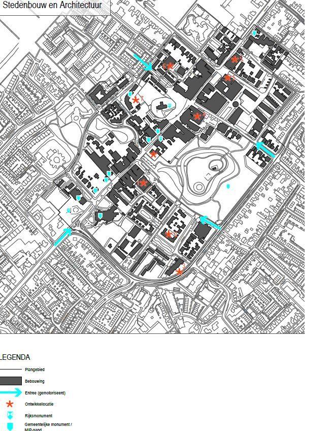Tekening/plattegrond huidige Sassenheim