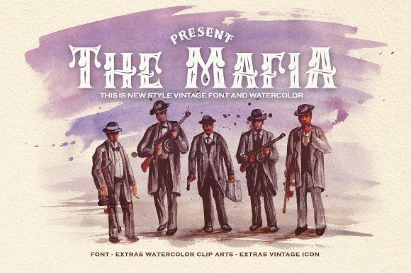 Mafia by GRAPHOBIA on @creativemarket