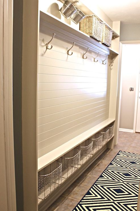 Mudroom, preferably attached to laundry room