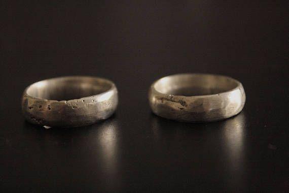 Custom Silver Wedding Band Mens Silver Wedding Ring
