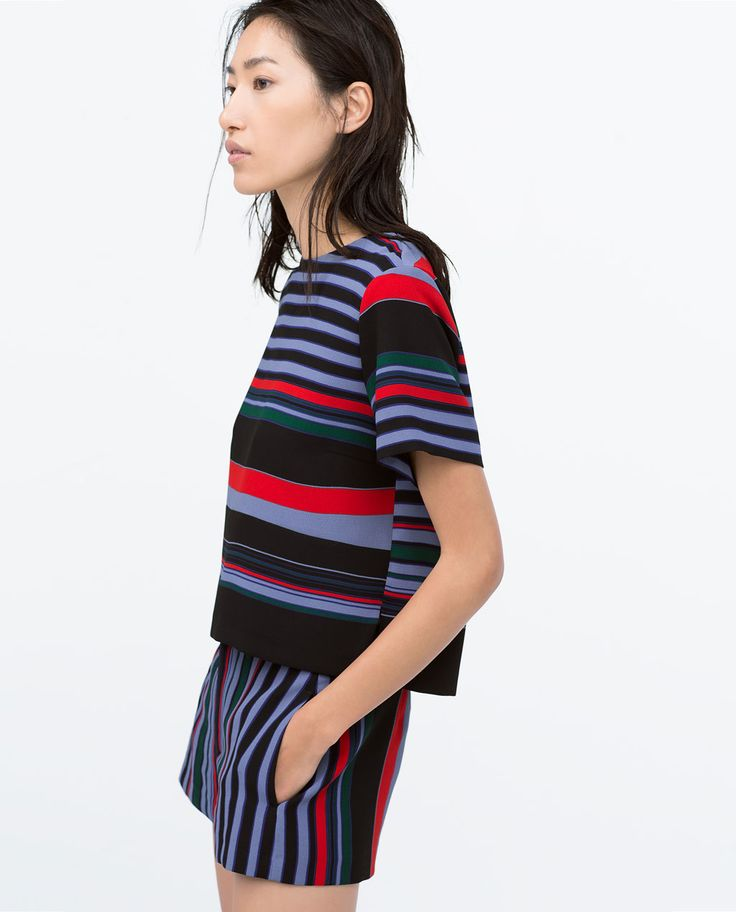 Image 3 of SIDE SLIT STRIPED TOP from Zara