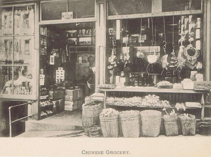 This image from 1899 shows a Chinese grocery store in San Francisco's Chinatown…
