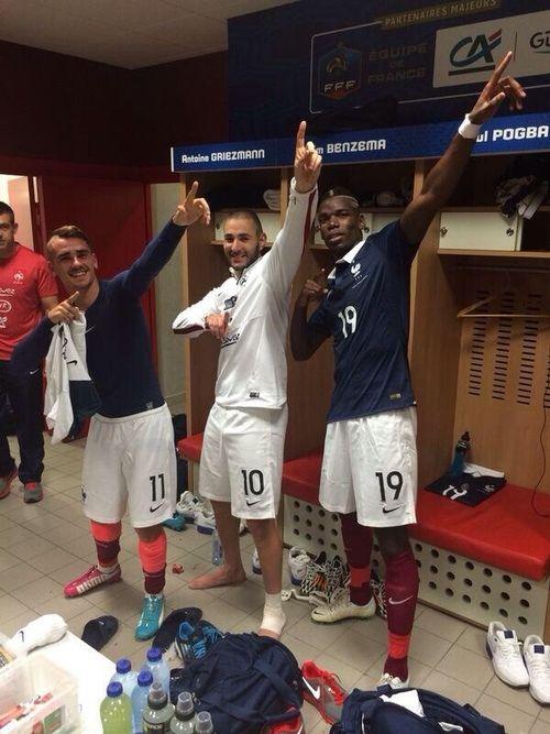 Antoine Griezmann, Karim Benzema, Paul Pogba #france #lesbleus