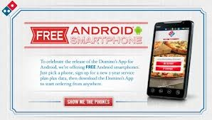 Saving 4 A Sunny Day: Free Smartphone From Domino's Pizza