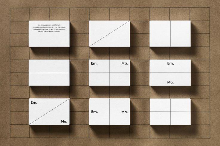 Emma Magnusson Arkitektur by Lundgren+Lindqvist, Sweden. #branding #businesscards