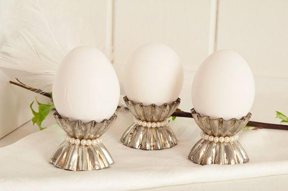 äggkoppar av kakformar | återbruk | diy egg cups from recycled old baking molds