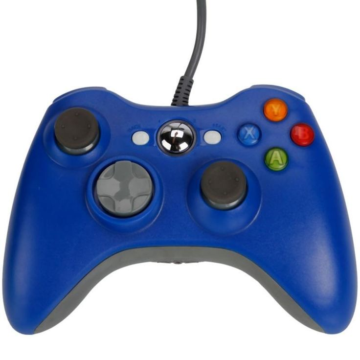Wired Controller Game for Xbox 360 / PC White/Black/Red/Blue