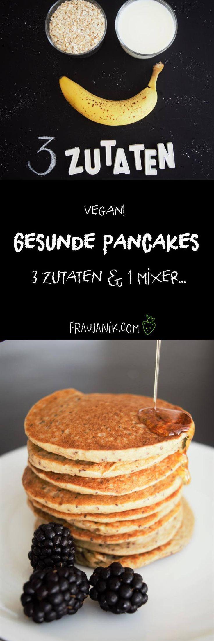 Gesunde Pfannkuchen ohne Zucker – 3 Zutaten & 1 Mixer