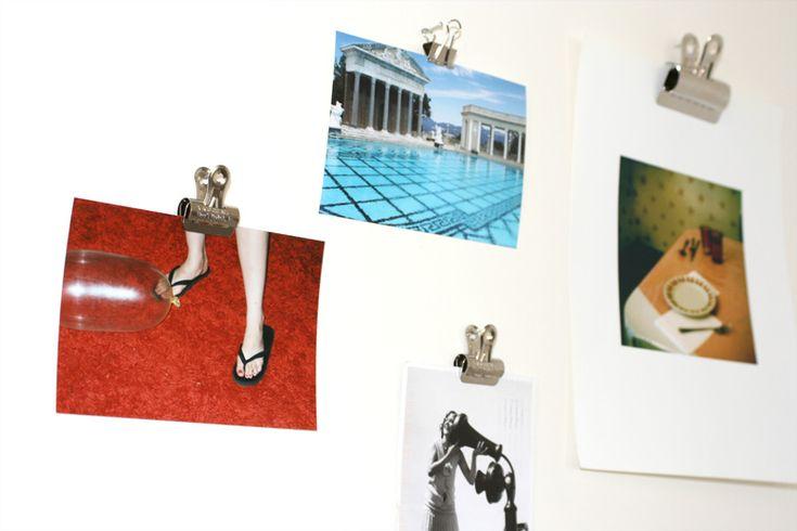 Bulldog Clips Photos Stylish Photo Wall Home All
