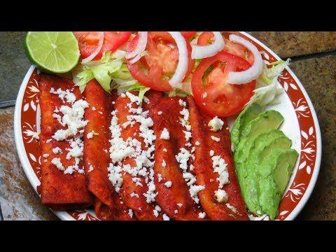 Como hacer unas buenas enchiladas Mexicanas - YouTube