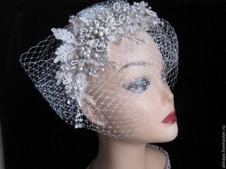 свадебное украшение в прическу в винтажном стиле Diana - серебряный,купить диадему в спб