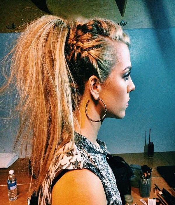 Kimberly Perry from The Band Perry with an awesome braided ponytail!