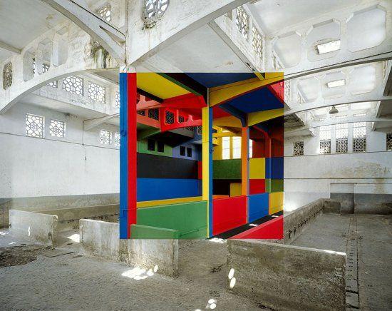 Одноракурсное геометрическое искусство Жоржа Руссе (Georges Rousse)