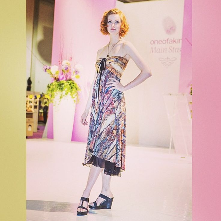 Limitless Chiffon Dress Photo by Modella Media at the #Toronto One of a Kind Spring 2014 Show.