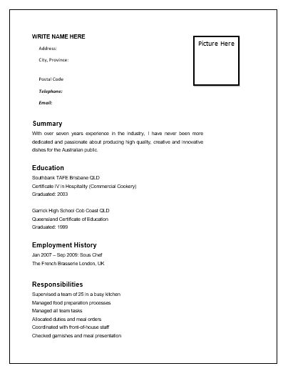 Mer enn 25 bra ideer om Chef resume på Pinterest Cv design - executive chef resume