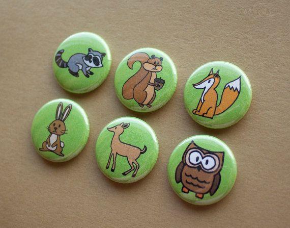 Woodland Animals Manget Set of 7 to support WWF Canada by HowlOwl. World Wildlife Fund.