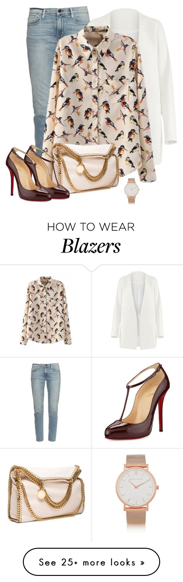 """Untitled #236"" by tijana89 on Polyvore featuring Frame Denim, Non, STELLA McCARTNEY, Christian Louboutin and Larsson & Jennings"