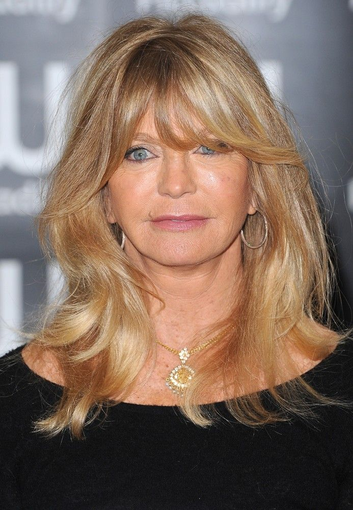 Goldie Hawn 67...I think her quirky sense of humor keeps her beautiful