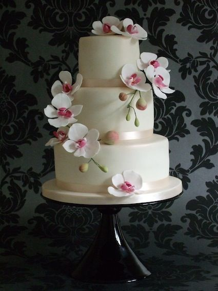 wedding cakes with orchids - Google Search