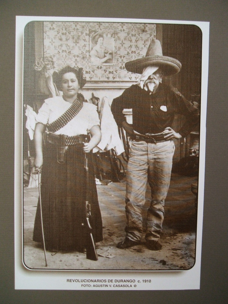Photograph of two revolutionaries from Durango, Mexico, 1910