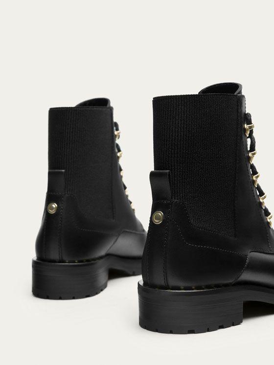 BOTÍN PIEL NEGRO de MUJER - Zapatos - Ver todo de Massimo Dutti de Otoño Invierno 2017 por 119. ¡Elegancia natural!