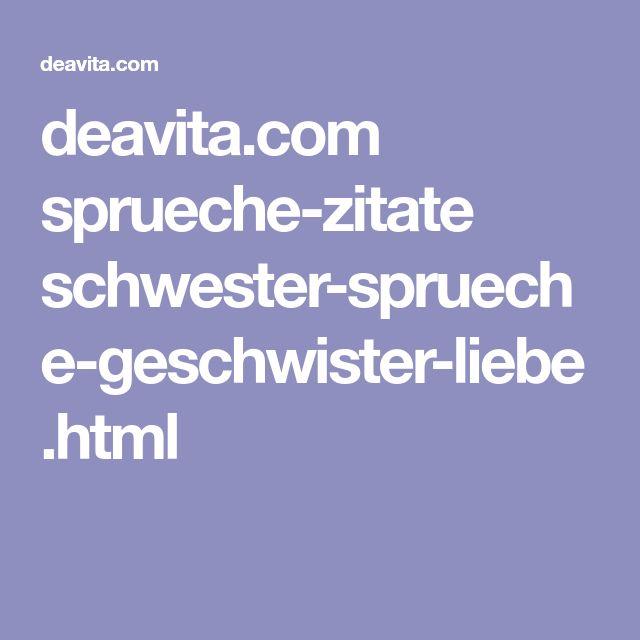 deavita.com sprueche-zitate schwester-sprueche-geschwister-liebe.html