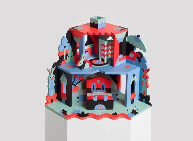 NOOKS Dollhouse Collection on Behance by Janine Rewell