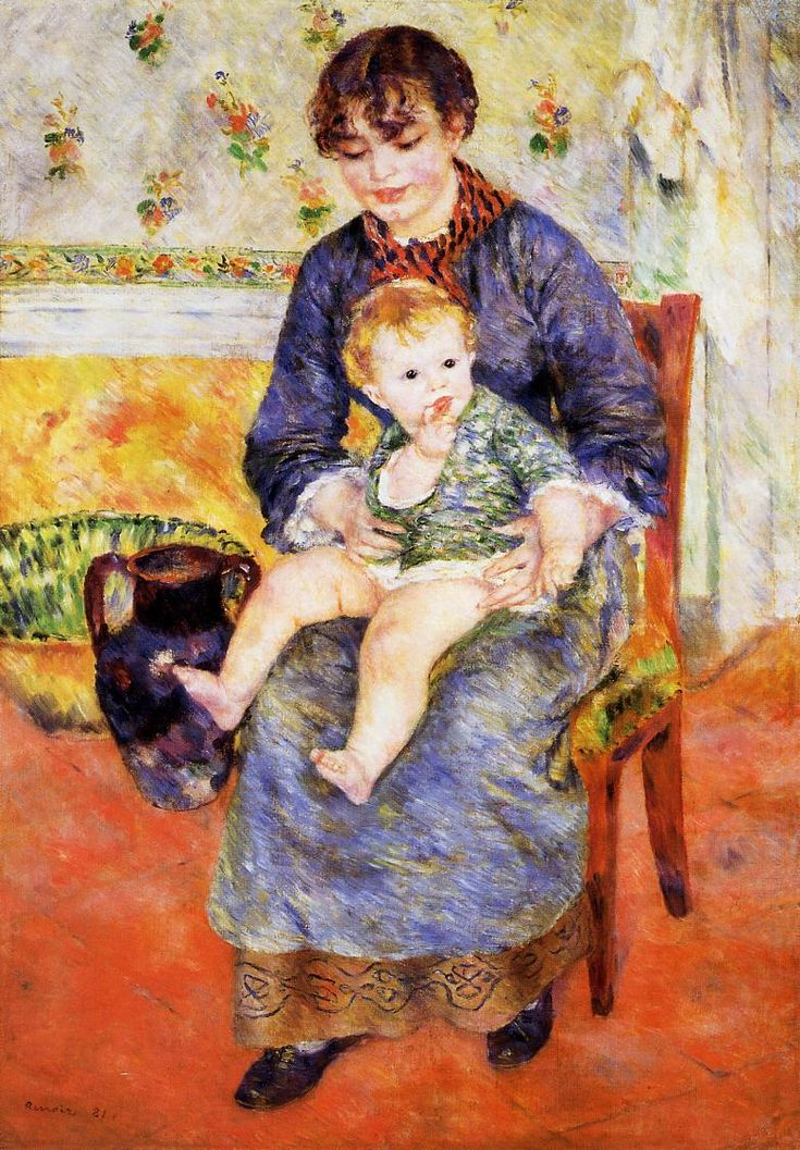 Mother and Child - Pierre-Auguste Renoir