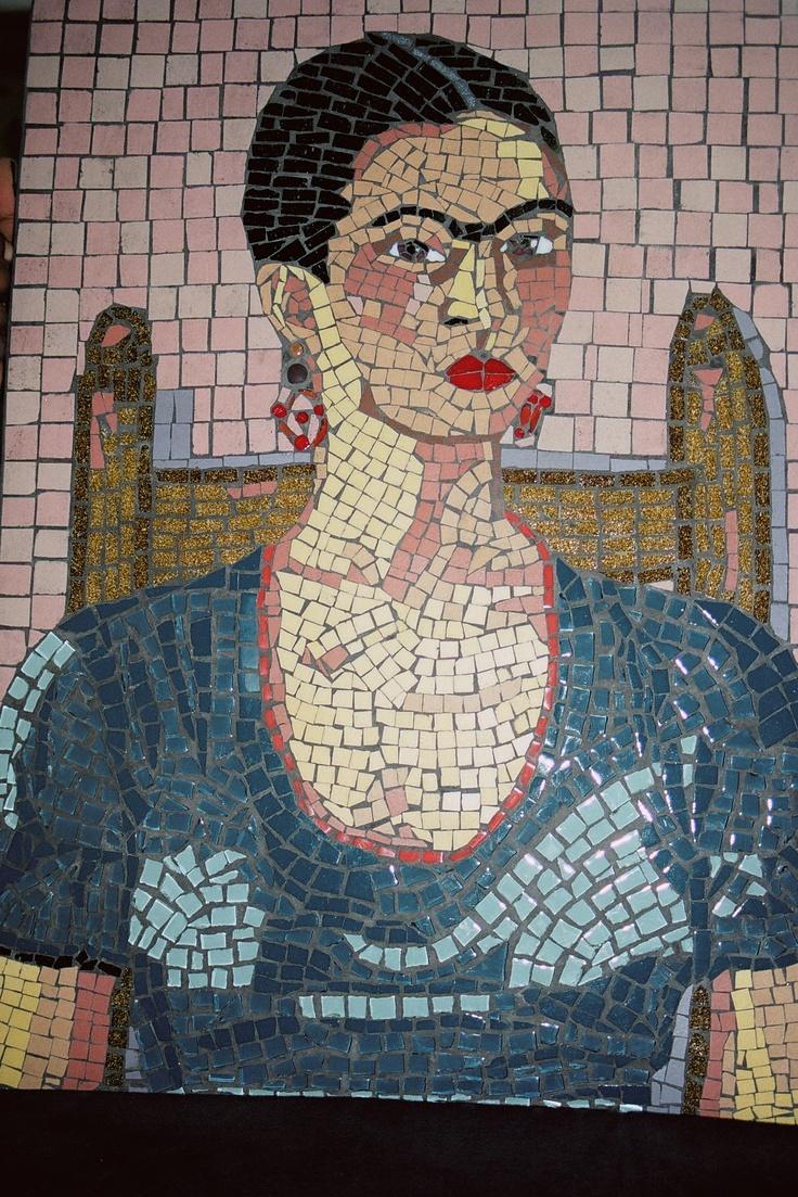 Wall Tiles Design >> mosaic of Frida Kahlo | www.mandelaparkmosaics.com