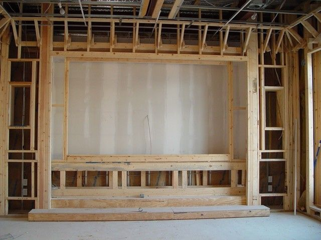 Home theater under construction.