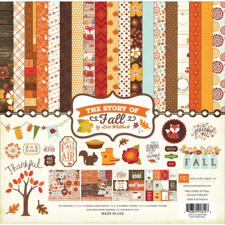 Echo Park The Story Of Fall - Collection Kit 12x12inch