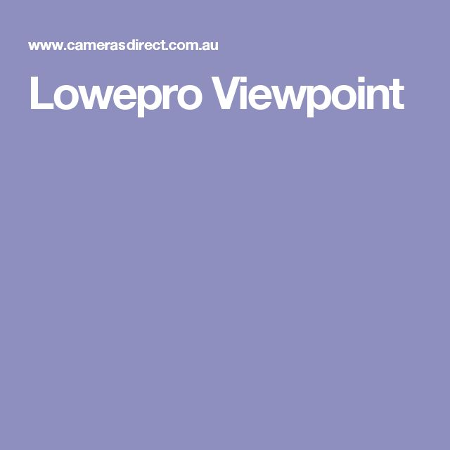 Lowepro Viewpoint