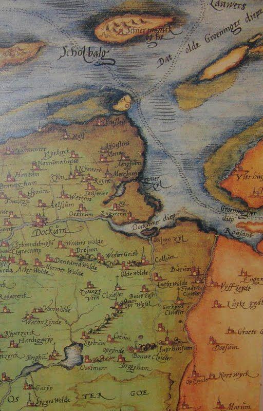 Sneuper blog van de Historische Vereniging Noordoost-Friesland te Dokkum: Oude kaart Noordoost Friesland