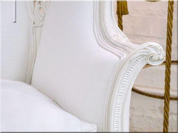 shabby chic stílusban felújított neobarokk fotel