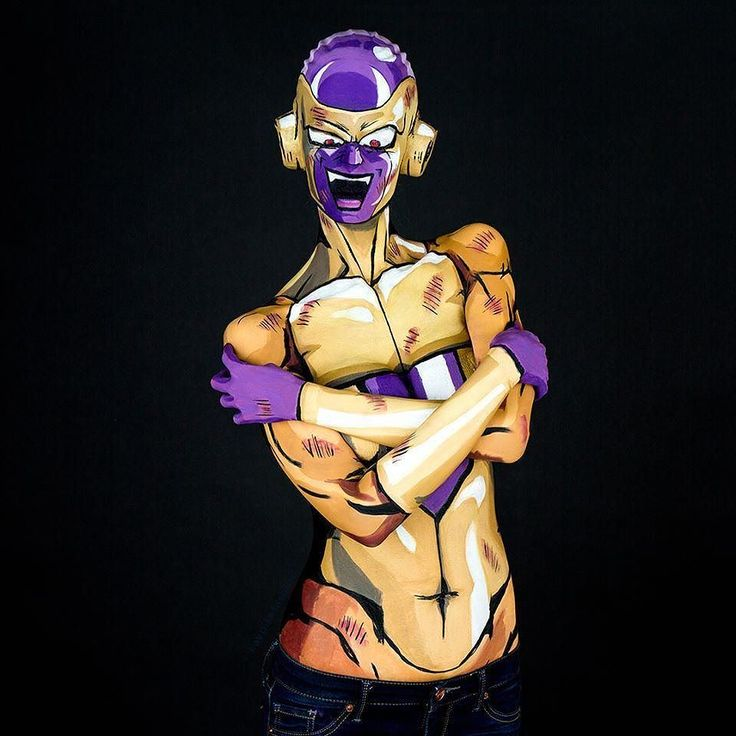 Throwback Thursday!Frieza was my first overall illusion paint from http://ift.tt/1UokVJw I have always loved freinza and this took everything from prop building to eye nose and mouth illusions. Done on December the 27th 2015.  This paint was so incredibly technically difficult. I wanted somthing hard to do .... and I picked the most beastly.... hide nose AND eyes AND breasts illusion plus making prosthetics plus bald cap MONSTER I could manage. Why? I want to get better at this…