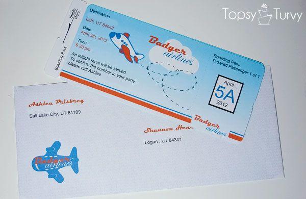 airplane-ticket-baby-shower-invitation by Ashlee @ imtopsyturvy