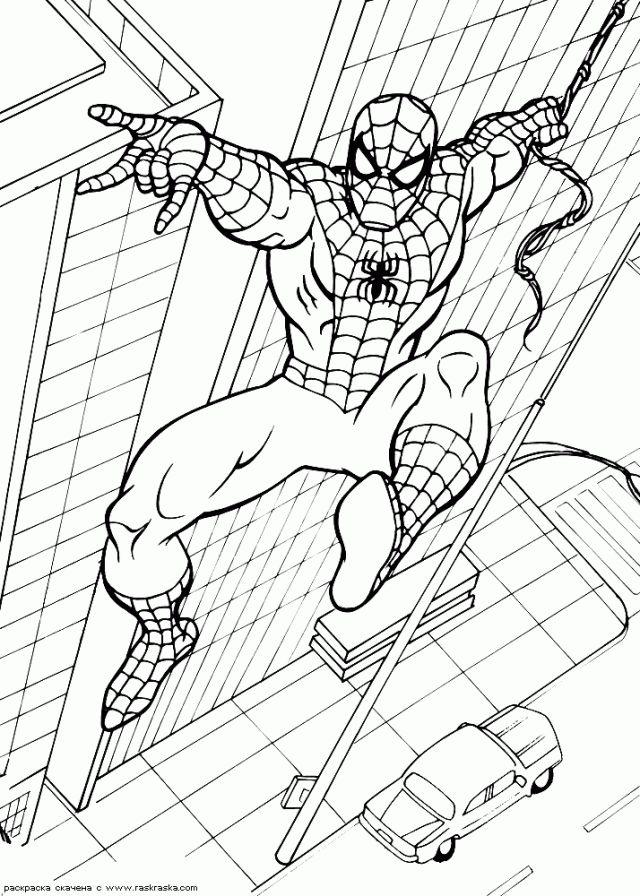 Coloriage de Spiderman #10