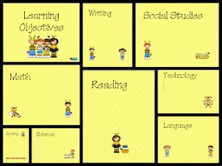 I made these templates to go inside dollar store frames to post Learning Objectives. FREEBIE