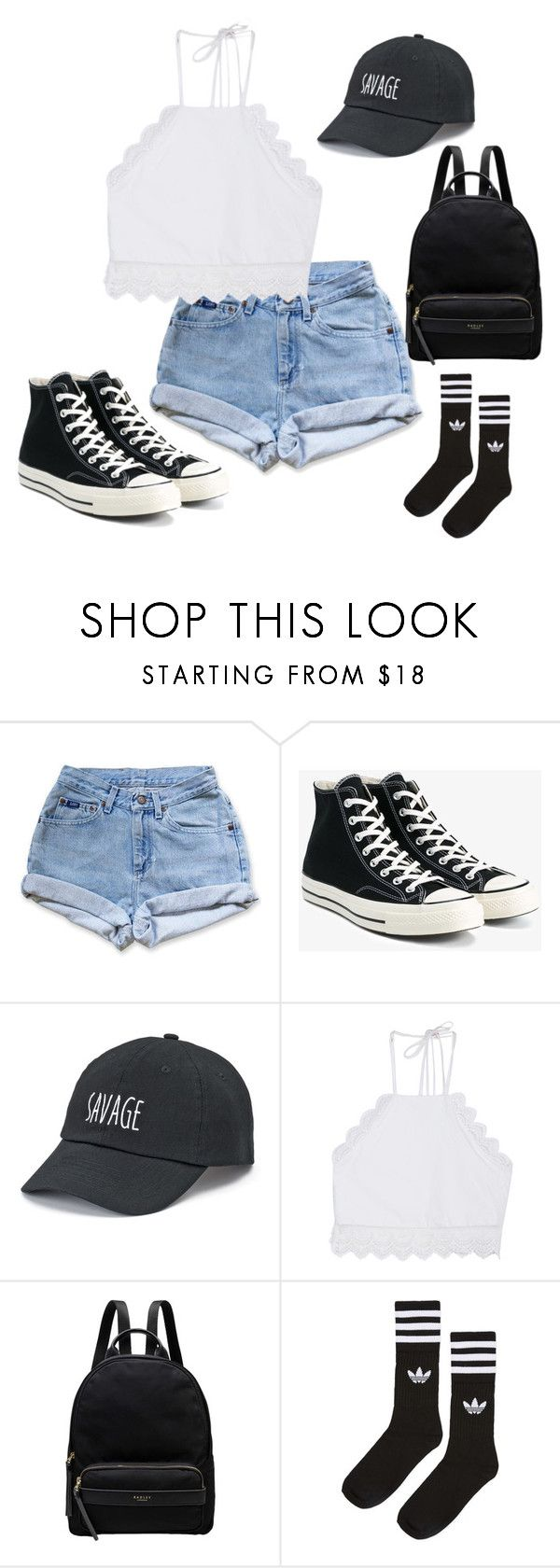 """NM"" by belle13lee on Polyvore featuring Levi's, Converse, SO, Front Row Shop, Radley and adidas"