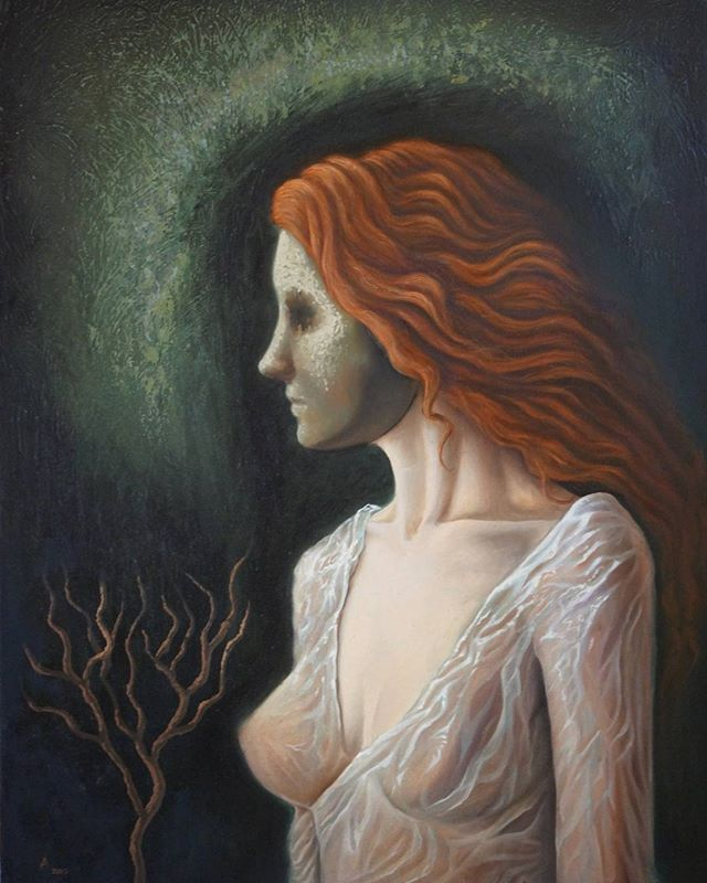 "Ariel Guerra ""La enmascarada"" óleo sobre lienzo. #oilpainting #figurative #A"