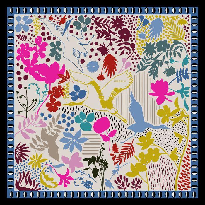 Colección de Pañuelos de Seda · Moniquilla · Prints & Pattern Design