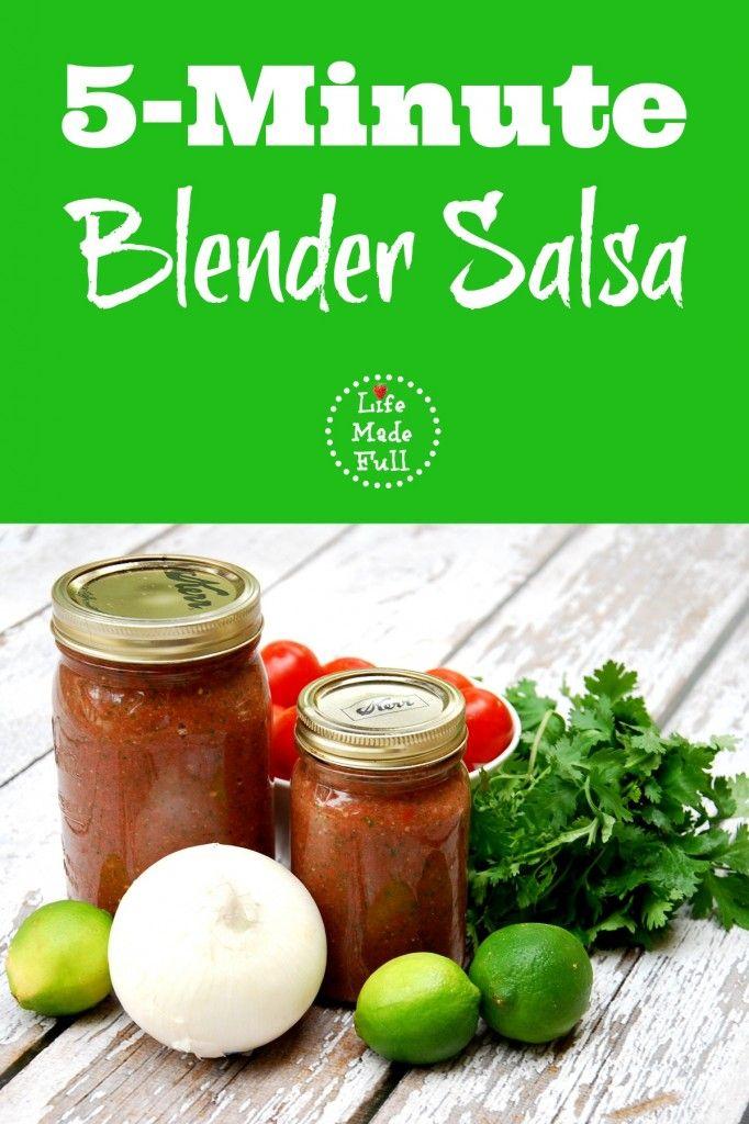 5 Minute Blender Salsa - Life Made Full