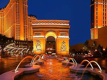 Paris Hotel, Las Vegas. Dying to try the french cafes and bistros, and I'll probably go to the observation deck at the top of the Eiffel Tower.