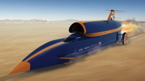 BLOODHOUND SSC (supersonic car) is a car created by the international education initiative BLOODHOUND Project to attempt a 1,000 mph world land speed record. The team aim to break the record with the pencil-shaped car, powered by a jet engine & a rocket designed to reach 1,000 mph together with a Cosworth CA2010 Formula 1 V8 petrol engine auxiliary power unit. It is being developed & built with the intention of breaking the land speed record by 33%, the largest ever margin.