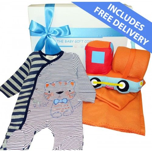 $60.00 Big Softie Baby Boy Gift Box - Free Delivery