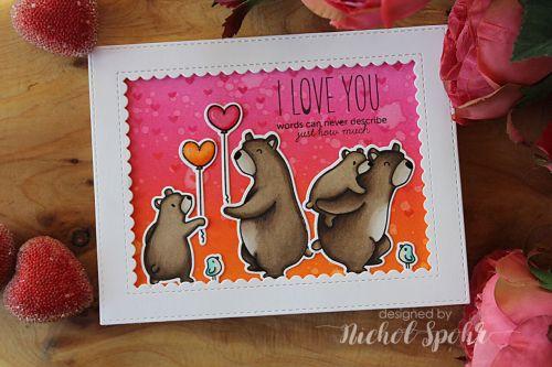 I Love You Bears Card featuring Mama Elephant Cub Cuddles & Bear Hugs