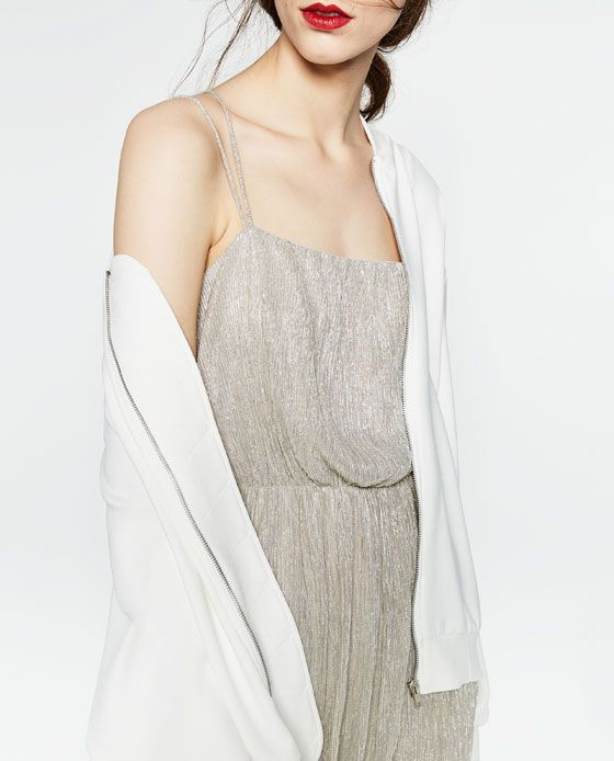 Image 3 of SHIMMER FABRIC DRESS from Zara